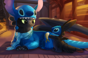 stitch-and-toothless